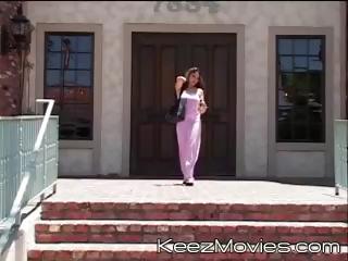 Two juvenile schoolgirls meet the teacher after school to get screwed