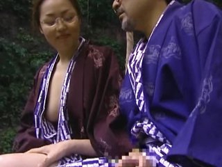 Rural Oriental MILF Gets Her Hairy Pussy Drilled Hard Outdoors