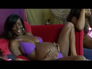 Six Cock-Bursting Ebony Preggos Having Fun In a Wild Lesbo Orgy