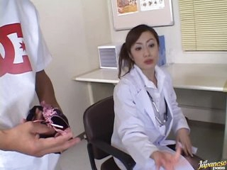 Concupiscent Asian Nurse Thinks Fucking is the Best Painkiller