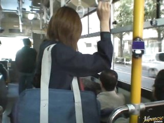 Sexy Asian School Angel Gets Fucked on a Crowded Bus