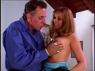 Super Lascivious Blonde MILF Tabitha Holt Acquires Facialized In a Threesome