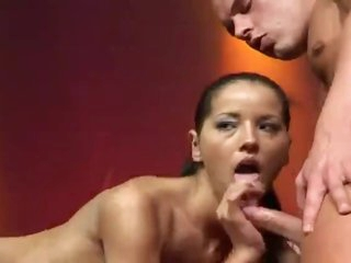 Fuck show on stage with a chick