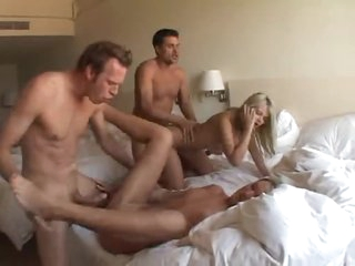 Hardcore foursome a large hotel room
