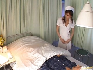 Wild Asian Nurse Fingers Her Vagina and Gets Her Ass Covered With Cum