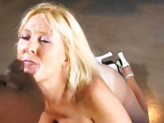 Busty Kayla Kleevage acquires her face plastered with cum