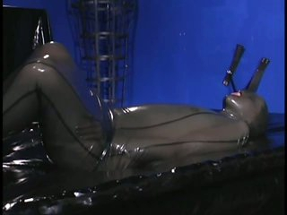 Slave Girls Immobilised In Taut Latex