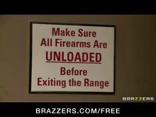 Large tit lascivious Pornstars fuck in hot sex fuckfest party at a gun store