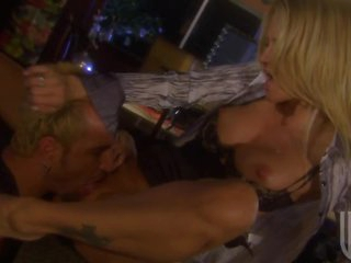 Breasty Blonde Jessica Drake Sucks and Fucks For Cum