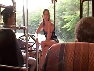 Threesomes in the bus with Cecilla Vega