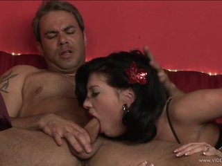 Roxy Deville gets her face hole crammed with hard cock
