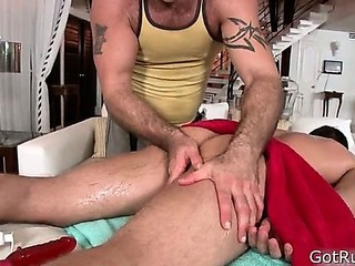 Hunky guy gets rectal hole rimmed 1 By GotRub