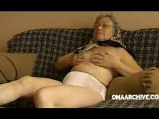 Granny sofa undress