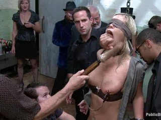 trussed and masked Tara Lynn gets her wet crack vibed and titties squeezed.