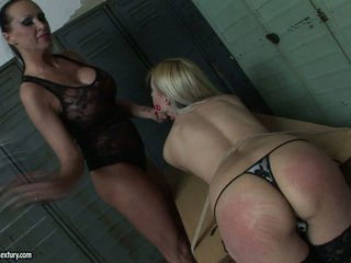 Mandy Bright flogging the butt hot blonde honey