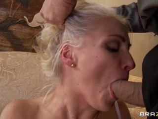 Sexy bride Lexi Swallow slurps on this tasty cock