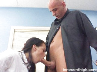 Slutty Natasha Nice is skipping class to blow some hot dude snake