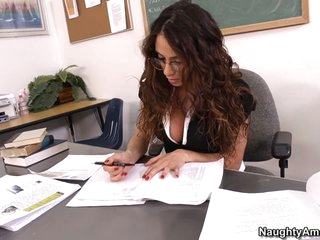Teacher Ariella Ferrera is hot, horny and willing