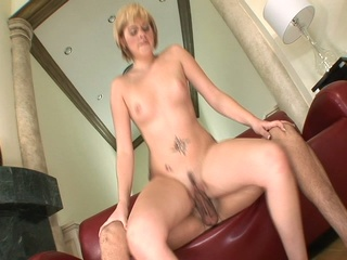 Hot blonde gets her precious ass filled with a cock
