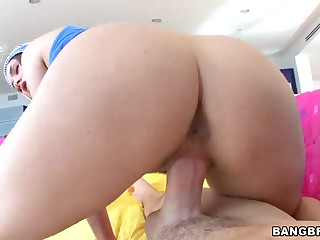 Perfect Allie Haze's  bubble butt in hardcore acti