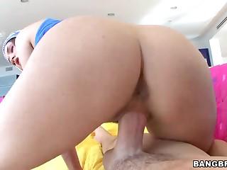 Perfect Allie Haze's  bubble butt in hardcore acti