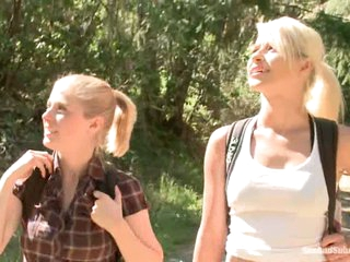 Two attractive blondes Anikka Albright and Penny Pax get their adventure started far from civilization deep in the woods. And they meet a stranger...
