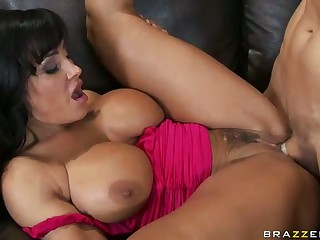 Years of experience is the guarantee that big titted brunette milf Lisa Ann is better than anyone else when it comes to sucking and fucking. She sucks and fucks like a first rate whore in front of her blonde-haired milf friend Ashley proving that she can