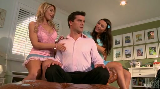 Ashli Orion And Natalie Vegas Babysitter Do Hard Oral Job
