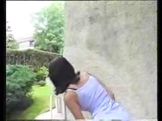 P0 Beautiful Teen pooping and peeing outdoor