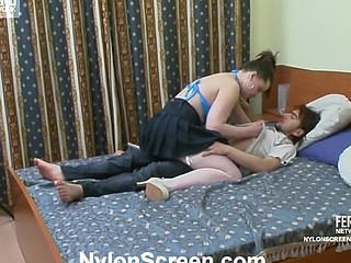 Nora&Danil nylon sex action