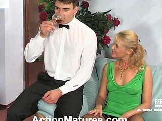 Bridget&Clifford red sexy older movie scene