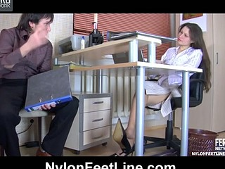 Tina&Rolf nylon footfuck action