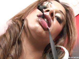 hot brunette tranny masturbating and teasing