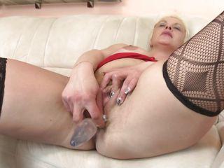 debra fucks her pussy alone