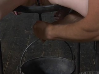This really weird whore is tight up and about to get drilled