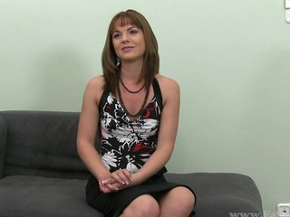 Glamorous Laura bounds on dude's hard boner vigorously