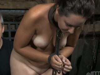 Pretty chick's sweet nipples acquires painful torturing