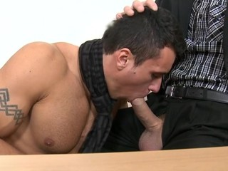 Cute gay stud gets his tapering butt hole thrashed
