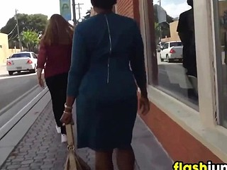 Following This Black Woman In A Dress