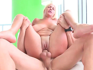 Jazmyn receiving big thudding dong inside her shaved wet cunt