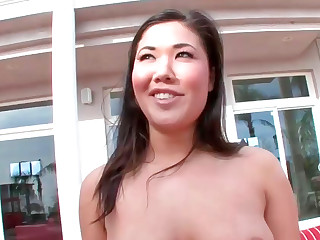 Sexy Asian battle-axe London with nice curves gets fucked really hard
