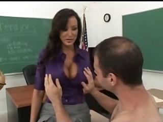 Breasty Aged Teacher Tempt Her Nerd Student