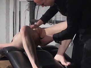 Gagged amateur slaves sextoy domination and spanked blo