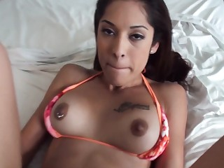A big ass minx that loves to ride cock is getting fucked on the bed
