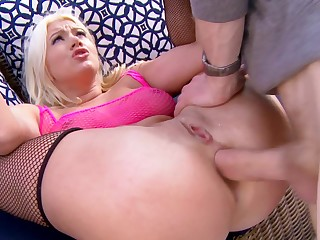 Outdoor huge cock anal for lovely blonde Layla Price