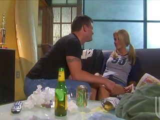 Playing Soccer Made Blonde Jessica Drake All Horny For Her Man's 10-Pounder