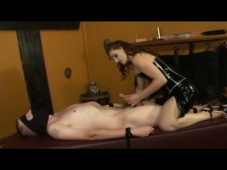 Dominatrix-bitch gemini shows her slave the meaning of pain