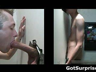 Straight hunk gets homo jock engulf surprise