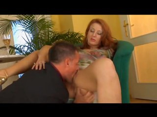 Redhead milf licked and fucked hard