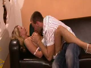 Indeed pretty blonde hotty in DP threesome